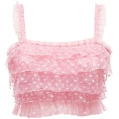 Frilly pink crop top  My style when I was a bit younger, but I still had to post it!