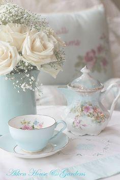 teapot, pastel, tea parti, tea time, tea sets, shabby chic, blue, afternoon tea, teacup