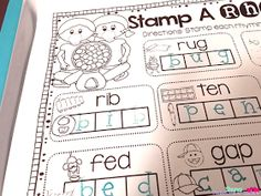 Make your stamping station fun and engaging! Simple and easy no prep centers