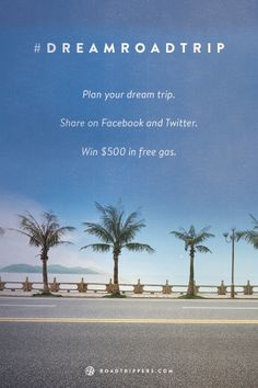 Use your vacation days to go on your #dreamroadtrip - We want to pay for your gas!