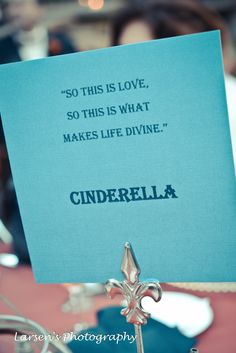 cute idea for engagement party use quotes from love