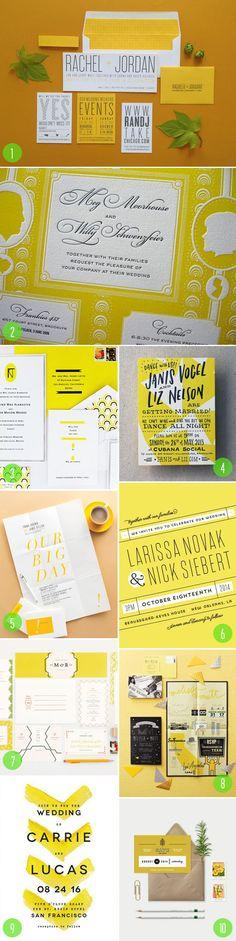 top 10: yellow weddi