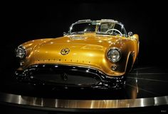 When Chevy was coming out with its 6-cylinder sports car with its 2-speed 'powerglide' transmission and side curtains,   there was a sports car from Olds with a big old V-8 engine with power windows.     So, GM said, 'no' to Oldsmobile on building this car.    1954 Concept Old's Rocket F88 - the only one in existence.     John S. Hendricks (Discovery Communications founder), paid in excess of $3 million to acquire this 1954 Oldsmobile   F-88 Convertible Concept Car.