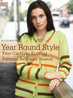 Year Round Style: 20 Free Cardigan Knitting Patterns for Every Season | AllFreeKnitting.com