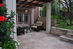 Travertine patio