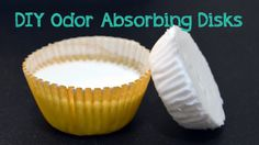 Ditch the Diaper Pail Smell (or garbage can for that matter) with these simple DIY odor absorbing disks. =)
