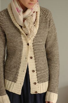 striped cardi - oh i LOVE the look of this one!
