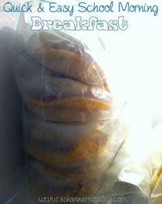 Organize Back to School Mornings Premade egg sandwiches for the morning