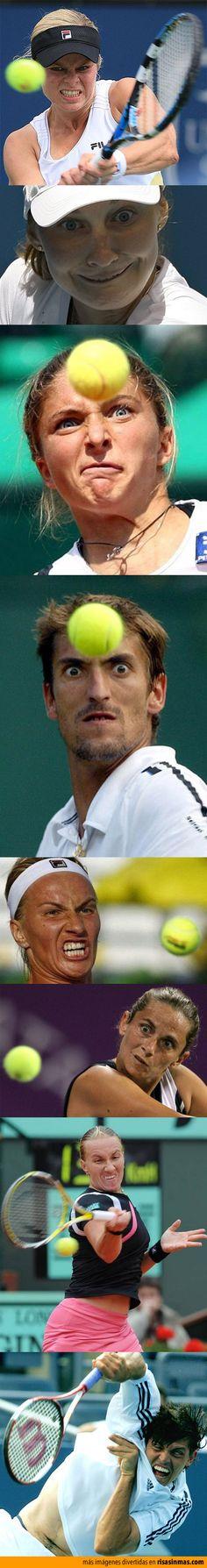 Caras de tenis.