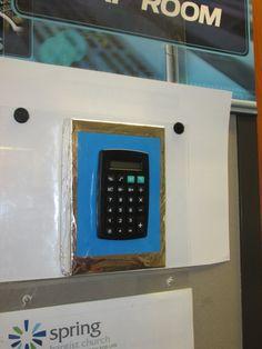 class room door access code pad
