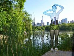 Body-Painted Models Blend into Famous NYC Landmarks
