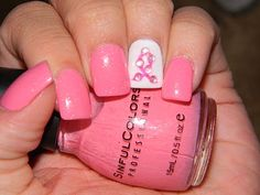Breast Cancer #Awareness #nails