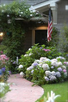 Beach Cottage (Gray) by Abby Lanes, via Flickr #curbappeal #lawns #landscaping #finehomes #coolspaces