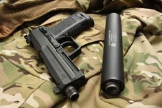 H&K USP Tactical .45 with silencer