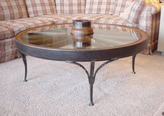 wagon wheel coffee table vintage | Thor's Playground, Manufacturer of Wroght Iron Coffee Tables