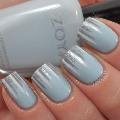 Nail art inspired by Wintery icicles .. Seasonal manicure