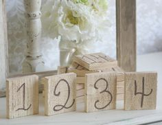 Shabby Chic Table Numbers Rustic Wedding
