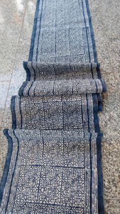 Handwoven cotton Vintage fabrics  Indigo Blue Hmong by dellshop, $24.99