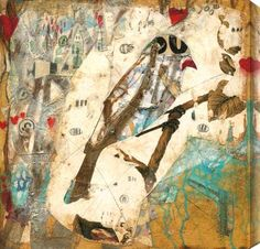 Judy Paul - Lucky in Love I #bird #judypaul #abstract