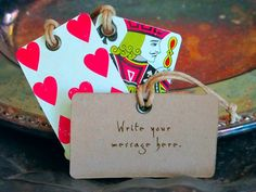 Poker face gift tags