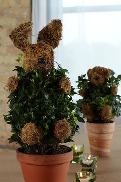 Animal Topiaries. Woodland creatures plant a bit of whimsy in this baby shower theme.