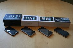 1,2,3,4 iPhones