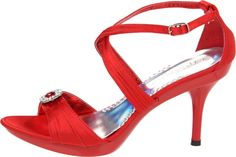 Coloriffics Women's Miley Red Platform Wedding Sandal