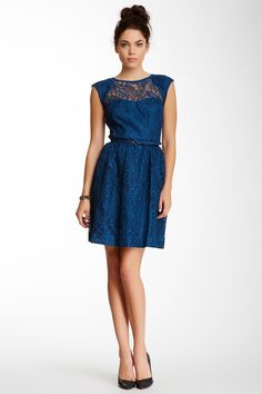 Cagney Lace Belted Dress on HauteLook