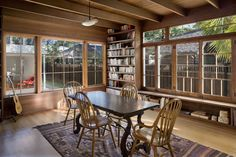 dining rooms, idea, living rooms, exposed beams, living room designs