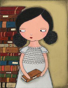books, book art, girl, bookish, secret hermit1, bookworm, libro, illustr, the secret