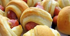 Pigs in a blanket recipe! Perfect for watching the game!