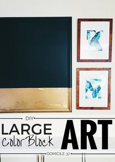 DIY Colorblock Art |