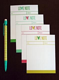 eighteen25: Valentine's Day // Love Notes FREE download