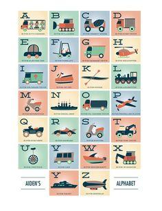 ABC & Alphabet art prints: Alphabet in Motionby Erica Krystek