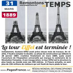 La tour eiffel- 31 mars 1889