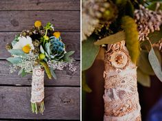 Wedding Flowers and Lace