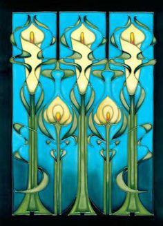 Art Nouveau calla lillies
