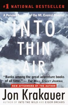 Into Thin Air  by Jon Krakauer ($11.99) http://www.amazon.com/Into-Thin-Air/dp/B000FC1ITK%3FSubscriptionId%3D%26tag%3Dhpb4-20%26linkCode%3Dxm2%26camp%3D1789%26creative%3D390957%26creativeASIN%3DB000FC1ITK&rpid=nc1391749467/Into_Thin_Air Krakauer's writing is so wonderful; I felt like he was telling the story to me, writing this book for me (even though nothing could be further from the truth). - When you aren't reading the book you are thinking about those involved and how the story will play out even if you know how it will end. - I couldn't put this book down once I started reading it!