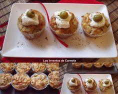 Muffins griegos de queso y berenjena