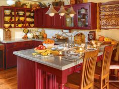 Red cabinets<3