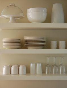 open shelves http://www.flickr.com/photos/heathashli/6142538614/