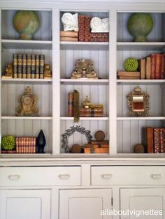 All About Vignettes: Styling a Bookcase