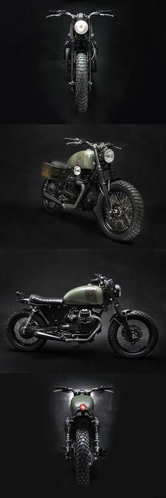 An Italian polizia bike decommissioned by Venier Custom Motorcycles. Arresting, sì?!