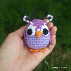 Crafty Guild: Odus Amigurumi Pattern. ☀CQ #crochet #owls http://www.pinterest.com/CoronaQueen/crochet-owls-corona/