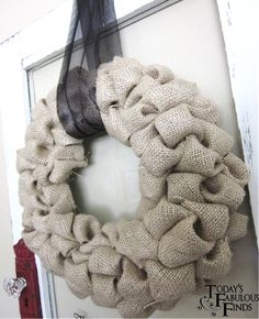 Burlap Bubble Wreath