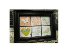 Stampin Up Spring Sampler framed art