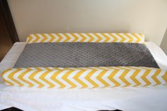 Free Shipping Deluxe Yellow Chevron and Gray Minky Contour Changing Pad Cover. $30.00, via Etsy.