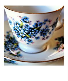 A Gainsborough forget me not bone china tea trio, dates from 1954. / No 14 ~ Tea with Ruby