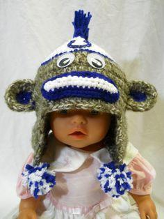 Crochet Colts Sock Monkey Hat