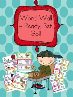 This is an entire word wall set with Alphabet picture cues and word wall words for kindergarten AND first grade.
